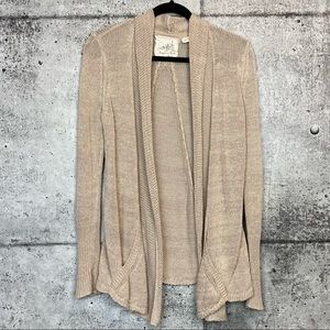 Anthro // Angel of the North // Oatmeal Cardigan